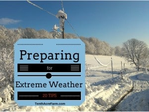 20 Tips: Preparing for Extreme Weather