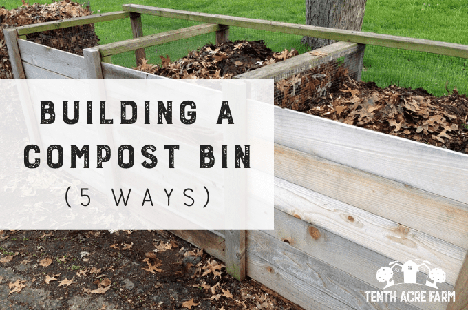 There are many ways to build a compost bin. However, you'll want to choose a design to meet your needs. Here are five compost bin designs to choose from. #microfarm #compost #composting #compostbin #soilfertility #gardening #gardentips