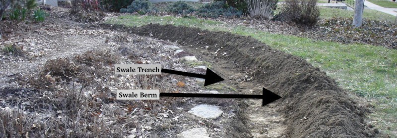How To Construct A Swale In The Residential Landscape
