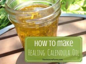 How to make Healing Calendula Oil