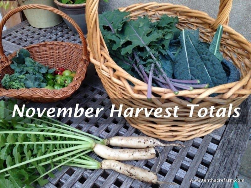 November Harvest Totals