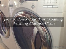 How to Keep Your Front Loading Washing Machine Clean